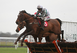 Redicean ridden by Wayne Hutchinson wins the 32Red Casino Introductory Juvenile Hurdle Race during day two of the 32Red Winter Festival at Kempton Park, Sunbury on Thames.