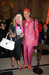 Designer ANDREW LOGAN and JIBBY BEAN at a party at the V&A museum, Cromwell Road, London for three exhibitions - Sixties Fashion, Sixties Graphics and Che Guevara:Revolutionary and icon held on 5th June 2006.<br /><br />NON EXCLUSIVE - WORLD RIGHTS