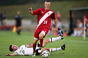 BLOOMINGTON, IN - SEPTEMBER 26, 2017 - Midfielder/Forward Griffin Doresy #14 of the Indiana Hoosiers during the game against the Notre Dame Fighting Irish and the Indiana Hoosiers at Bill Armstrong Stadium in Bloomington, IN. Photo By Craig Bisacre/Indiana Athletics