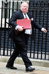 © Licensed to London News Pictures. 21/05/2013. Westminster, UK. Eric Pickles, Conservative MP, Secretary of State for Communities and Local Government.  Ministers arrive for a Cabinet meeting at Downing Street today 21 May 2013. Photo credit : Stephen Simpson/LNP
