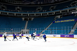 The players at ice hockey practice one day before at IIHF World Championship DIV. I Group A Kazakhstan 2019, on April 28, 2019 in Barys Arena, Nur-Sultan, Kazakhstan. Photo by Matic Klansek Velej / Sportida
