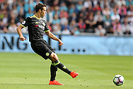 Cesar Azpilicueta of Chelsea in action. Premier league match, Swansea city v Chelsea at the Liberty Stadium in Swansea, South Wales on Sunday 11th Sept 2016.<br /> pic by  Andrew Orchard, Andrew Orchard sports photography.