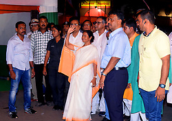 July 20, 2017 - Kolkata, West Bengal, India - Trinamool Congress supremo Mamata Banerjee along with other Trinamool Congress leader inspect the make sift stage and other area. West Bengal Chief Minister and Trinamool Congress supremo Mamata Banerjee inspect the preparation of Martyrs Day of the Trinamool Congress on July 20, 2017 in Kolkata. (Credit Image: © Saikat Paul/Pacific Press via ZUMA Wire)