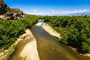 The Manuherikia River on the Otago Central Rail Trail, Otago, South Island, New Zealand
