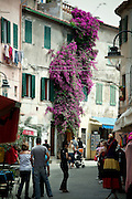 Street life of Capoliveri on Elba island.