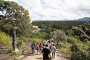 Vistors at Dambulla cave temple complex, Sri Lanka, Asia