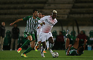 R.Leao of Milan in action during the Europa League match between Rio Ave FC and AC Milan at Estadio dos Arcos, Vila do Conde, Portugal on 1 October 2020.
