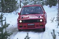 Ål 180103 - Rally NM åpning i Hallingdal - Tor Larsen og Anders Nygård NMK Nore og Uvdal vant Nasjonal klasse.<br /> Foto: Birger Henriksen, Digitalsport
