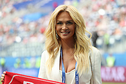 Russian model and TV presenter, Ambassador of the 2018 FIFA World Cup in Russia, Victoria Lopyreva before the game