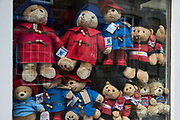 Paddington Bear toys are stored in the window of a closed souvenir shop on 1st July 2020 in Windsor, United Kingdom. Local tourism officials expect to attract very few international visitors to the town this year, but an increase in footfall is expected following the opening of pubs and restaurants on 4th July.