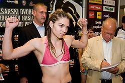 Tjasa Kolar of Slovenia at official weighing 1 Day before IBF World Champion title fight, on September 3, 2010, in Hotel Lev, Ljubljana, Slovenia. (Photo by Matic Klansek Velej / Sportida)