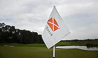 SPIJK - Hole vlag van The Dutch met logo.   Golfbaan THE DUTCH, COPYRIGHT KOEN SUYK