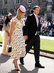 Dan Snow and Lady Edwina Louise Grosvenor arrive at St George's Chapel at Windsor Castle for the wedding of Meghan Markle and Prince Harry.
