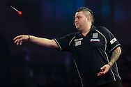 Michael Smith during the William Hill World Darts Championship at Alexandra Palace, London, United Kingdom on 15 December 2016. Photo by Shane Healey.