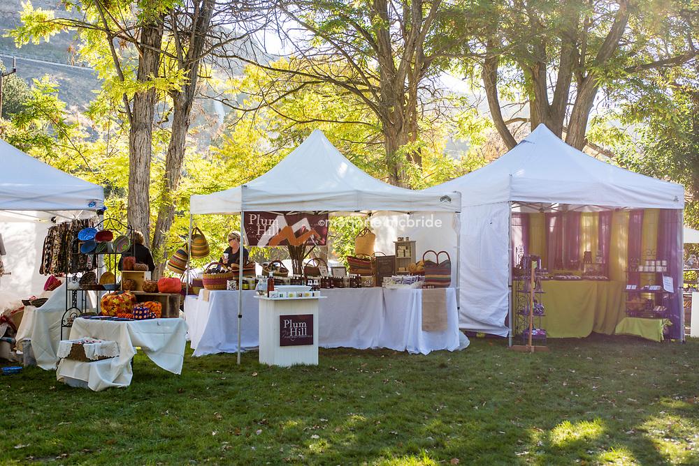 Tents up, Ritter Island, Thousand Springs Art Festival, Hagerman, Idaho.