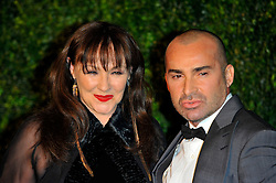 Louie Spence (R) with friend attends the 58th London Evening Standard Theatre Awards in association with Burberry, London, UK, November 25, 2012. Photo by Chris Joseph / i-Images.