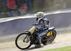 07.06.2015, Leineweberring, Bielefeld, GER, ADAC Motorrad Grasbahnrennen EM, Semifinale 2, im Bild 1 Richard Wolff/CZ, Speed, Kurve. Drift // during the second Semifinal of ADAC Motorcycle GRASSTRACK European Championship at the Leineweberring in Bielefeld, Germany on 2015/06/07. EXPA Pictures © 2015, PhotoCredit: EXPA/ Eibner-Pressefoto/ Stiefel<br /> <br /> *****ATTENTION - OUT of GER*****