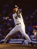 BRONX, NY - 1998: Mariano Rivera of the New York Yankees pitches during an MLB game at Yankee Stadium during the 1998 season. Rivera pitched for the Yankees from 1995-2013.  (Photo by Ron Vesely) Subject:   Mariano Rivera