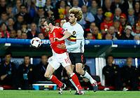 Gareth Bale (Wales) and Marouane Fellaini (Belgium)<br /> Lille 01-07-2016 Stade Pierre Mauroy Football Euro2016 Wales - Belgium / Galles - Belgio <br /> Quarter-finals. Foto Matteo Ciambelli / Insidefoto