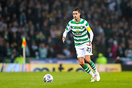 Mikael Lustig (#23) of Celtic on the ball during the Betfred Cup Final between Celtic and Aberdeen at Celtic Park, Glasgow, Scotland on 2 December 2018.