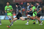 Sam Davies of the Ospreys in action. European Rugby Champions Cup, pool 2 match, Ospreys v Northampton Saints at the Liberty Stadium in Swansea, South Wales on Sunday 17th December 2017.<br /> pic by  Andrew Orchard, Andrew Orchard sports photography.