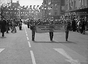 St Patrick's Day Parade.1982.17/03/1982.03.17.1982.17th March 1982..Bands from many countries take part in Ireland's national day..Here the Netherlands airforce takes part.
