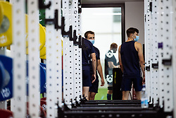Ioan Lloyd in action in the gym as Bristol Bears start to use their new almost completed Training centre - Rogan/JMP - 08/07/2020 - RUGBY UNION - Beggar Bush Lane - Bristol, England.