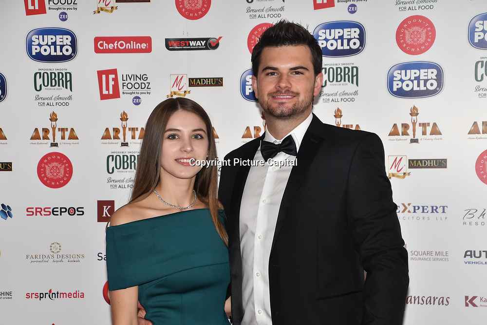 Cristina Igant and guest attend Asian Restaurant & Takeaway Awards | ARTA 2018 at InterContinental London - The O2, London, UK. 30 September 2018.