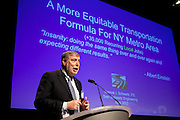 """Keynote Speaker, """"Gridlock Sam."""" Sam Schwartz, CEO, Sam Schwartz Engineering, offered an update on his traffic plan for NYC at the Manhattan Chamber of Commerce's Transportation Transformation Global Summit at NYIT in New York on April 26, 2012."""