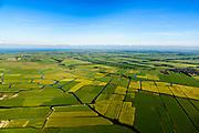 Nederland, Noord-Holland, Gemeente Schermer, 13-06-2017; Overzicht Polder Mijzen, gezien naar De Beemster. De polder is een aardkundig monument doordat het laagveen (mosveen) nagenoeg onaangetast is.<br /> Polder Mijzen, a geological monument, the bog (moss) is virtually untouched.<br /> luchtfoto (toeslag op standaard tarieven);<br /> aerial photo (additional fee required);<br /> copyright foto/photo Siebe Swart