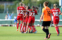 Bristol City Women celebrate Jodie Brett's opening goal against London Bees - Mandatory by-line: Robbie Stephenson/JMP - 23/07/2016 - FOOTBALL - Stoke Gifford Stadium - Bristol, England - Bristol City Women v London Bees - FA Women's Super League 2