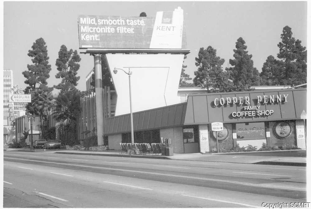 1972 Copper Penny Coffee Shop on Sunset Blvd.