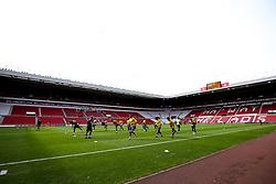 Bristol Rovers warm up at Sunderland - Mandatory by-line: Robbie Stephenson/JMP - 12/09/2020 - FOOTBALL - Stadium of Light - Sunderland, England - Sunderland v Bristol Rovers - Sky Bet League One