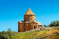 10th century Armenian Orthodox Cathedral of the Holy Cross on Akdamar Island, Lake Van Turkey 70 .<br /> <br /> If you prefer to buy from our ALAMY PHOTO LIBRARY  Collection visit : https://www.alamy.com/portfolio/paul-williams-funkystock/lakevanturkey.html<br /> <br /> Visit our TURKEY PHOTO COLLECTIONS for more photos to download or buy as wall art prints https://funkystock.photoshelter.com/gallery-collection/3f-Pictures-of-Turkey-Turkey-Photos-Images-Fotos/C0000U.hJWkZxAbg