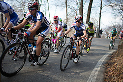 Kaitlin Antonneau (Twenty16 - Ridebiker) tackles one of climbs of the big loop of the Trofeo Alfredo Binda - a 123.3km road race from Gavirate to Cittiglio on March 20, 2016 in Varese, Italy.
