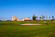 16-10-2015 -  Foto: Clubhuis en oefengreen Verdura Resort. Genomen tijdens een persreis met de Rocco Forte Invitational op Verdura Golf & Spa Resort in Sciacca (Agrigento), Italië.