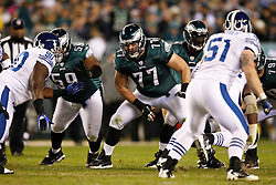 Philadelphia Eagles guard Mike McGlynn #77 during the NFL Game between the Indianapolis Colts and the Philadelphia Eagles. The Eagles won 26-24 at Lincoln Financial Field in Philadelphia, Pennsylvania on Sunday November 7th 2010. (Photo By Brian Garfinkel)