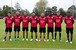 June 24, 2017 - Waregem, BELGIUM - Essevee's new players, Essevee's Gertjan De Mets, Essevee's MichaÃ«m Heylen, Essevee's Nill De Pauw, Essevee's Sandy Walsh, Essevee's Ben Reichert, Essevee's Peter Olayinka, Essevee's Julien De Sart and Essevee's Aaron Leya Iseka pictured during the first training session for the new 2017-2018 season of Jupiler Pro League team Zulte Waregem, Saturday 24 June 2017 in Waregem. BELGA PHOTO KURT DESPLENTER (Credit Image: © Kurt Desplenter/Belga via ZUMA Press)