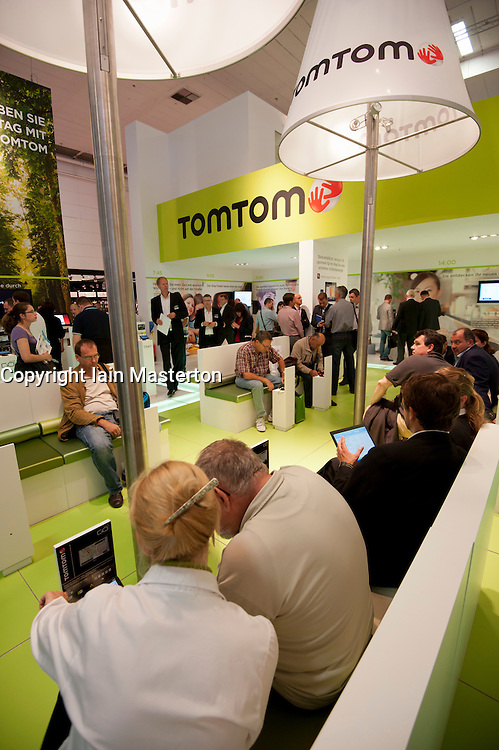 TomTom satellite navigation stand at IFA consumer electronics trade fair in Berlin Germany 2011