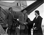 1956 - Departure of Aer Lingus Pilots on loan to West African Airways from Dublin Airport