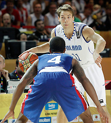 02.09.2014, City Arena, Bilbao, ESP, FIBA WM, Finnland vs Dominikanische Republik, im Bild Findlan's Petteri Koponen // during FIBA Basketball World Cup Spain 2014 match between Finland and Dominican Republic at the City Arena in Bilbao, Spain on 2014/09/02. EXPA Pictures © 2014, PhotoCredit: EXPA/ Alterphotos/ Acero<br /> <br /> *****ATTENTION - OUT of ESP, SUI*****