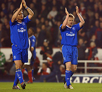 Fotball<br /> Premier League England 2004/2005<br /> Foto: BPI/Digitalsport<br /> NORWAY ONLY<br /> <br /> Arsenal v Chelsea<br /> FA Barclays Premiership, Highbury 12/12/04<br /> <br /> Chelsea's Frank Lampard and Damien Duff celebrate earning a point