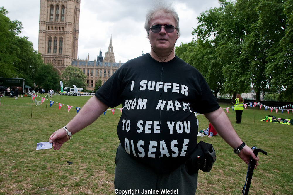 Protest by disabled people against social servive cuts and allowances
