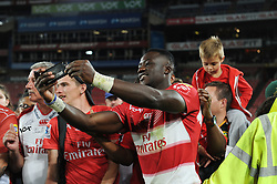 070418 Emirates Airlines Park, Ellis Park, Johannesburg, South Africa. Super Rugby. Lions vs Stormers. Madosh Tambwe takes a selfie with a fan during a meet and greet after the game before embarking on the Lions away tour.<br />Picture: Karen Sandison/African News Agency (ANA)