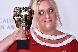 Daisy May Cooper with the award for Female performance in a comedy programme for This Country in the press room at the Virgin TV British Academy Television Awards 2018 held at the Royal Festival Hall, Southbank Centre, London.