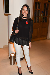 Sophia Tran-Thomson at the Terence Higgins Trust Auction 2017 at Christie's, 8 King Street, St.James's, London England. 11 April 2017.