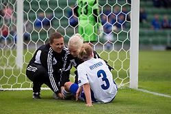 10.07.2013, Oerjans vall, Halmstad, SWE, UEFA Damen Euro, Italien vs Finnland, im Bild, Finland 3 Tuija Hyyrynen , , skada skadan ont smärta injury pain // during UEFA Womens Euro Match between Italy and Finland at the Oerjans vall, Halmstad, Sweden on 2013/07/10. EXPA Pictures © 2013, PhotoCredit: EXPA/ PicAgency Skycam/ Sami Grahn<br /> <br /> ***** ATTENTION - OUT OF SWE *****