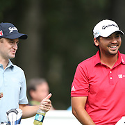 Russell Knox, (left) and Jason Day, Australia, during the third round of theThe Barclays Golf Tournament at The Ridgewood Country Club, Paramus, New Jersey, USA. 23rd August 2014. Photo Tim Clayton