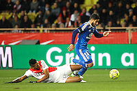 WALLACE / Nabil FEKIR - 01.02.2015 - Monaco / Lyon - 23eme journee de Ligue 1 -<br />Photo : Eric Gaillard / Icon Sport