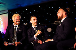 Kai Horstmann hosts questions and answers with Jack Nowell, Nic White, Harry Williams, Ollie Devoto and Dave Dennis during the dinner - Ryan Hiscott/JMP - 16/05/2019 - SPORT - Sandy Park - Exeter, England - Exeter Chiefs End of Season Awards
